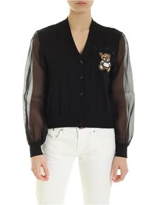 Moschino - Teddy Embroidery cardigan in black