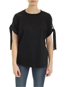DKNY - Branded ribbon T-shirt in black