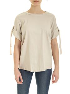 DKNY - Branded ribbon T-shirt in beige
