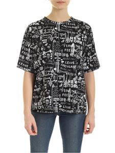DKNY - All-over graffiti t-shirt in black
