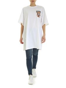 Moschino - Teddy Bear Frame oversize T-shirt in white