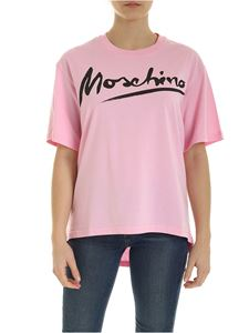 Moschino - Signature t-shirt in pink
