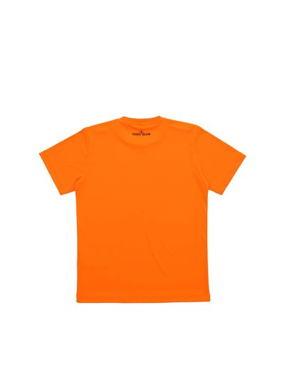 Stone Island Junior - Neon orange T-shirt