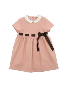 Fendi Jr - Short sleeve dress with branded band in pink