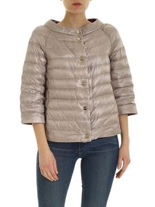 Herno - Reversible quilted down jacket in beige