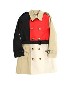 Burberry - Adriel double-breasted trench coat in beige red and black
