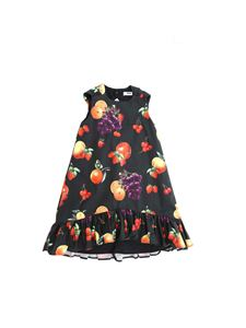 MSGM - Fruit print ruffled dress dress in black