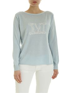 Max Mara - Salice sweater in light blue with logo