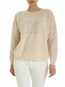 Max Mara - Udine pullover in light pink with lamè logo