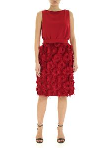 Max Mara - Nastro red dress with belt