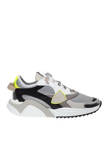 Philippe Model - Eze L Metal sneakers in gray with fluo detail
