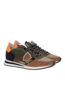 Philippe Model - Camouflage Trpx sneakers with fluo detail