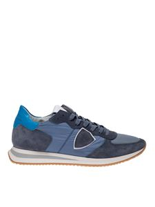 Philippe Model - Trpx Mondial blue sneaker with light blue heel tab