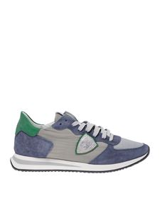 Philippe Model - Trpx Mondial sneakers in grey with green heel tab