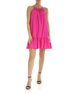 Dondup - A-Line fuchsia dress with flounce