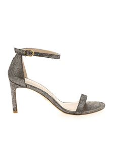 Stuart Weitzman - Laminated rhinestones sandals in bronze color