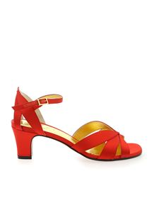 Marni - Open toe sandals in red satin