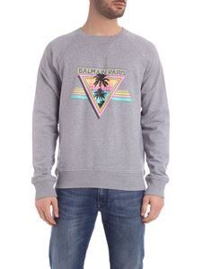 Balmain - Sweatshirt in grey with vintage print