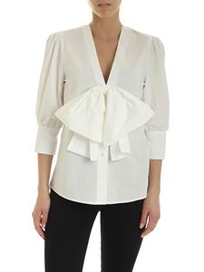 MSGM - Maxi bow shirt in white