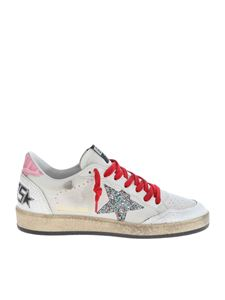 Golden Goose - Ball Star white sneakers with rhinestone detail