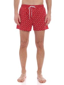 Dsquared2 - All over logo swim trunks in red