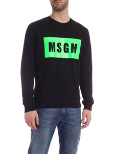 MSGM - Box Logo sweatshirt in black