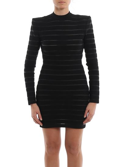Balmain - Logo stripe knitted dress