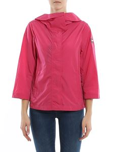 Colmar Originals - Nylon jacket featuring hood in fuchsia