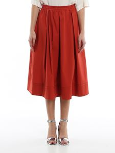Fay - Brick red full skirt