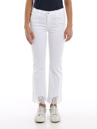 J Brand - Selena lace trimmed jeans
