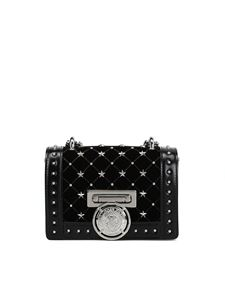 Balmain - Baby Box velvet and leather clutch