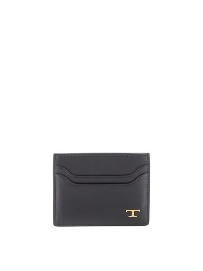Tod's - Metal T leather card holder