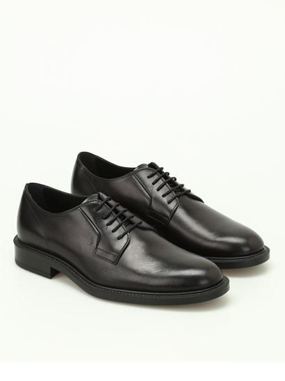 Tod's - Black leather Derby shoes