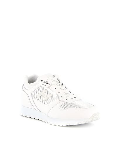 Hogan Spring Summer 2020 h321 perforated leather sneakers in white ...