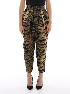 Dsquared2 - Printed silk high waisted loose trousers