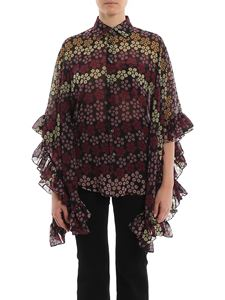 Dsquared2 - Lilou poncho style floral printed shirt