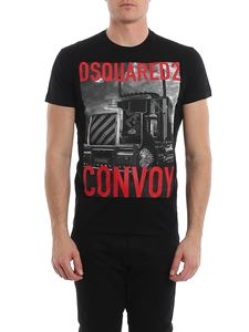 Dsquared2 - T-shirt in jersey con stampa DSquared2 Convoy