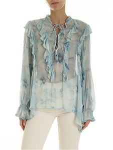 Iro - Cruis blouse in shades of light blue