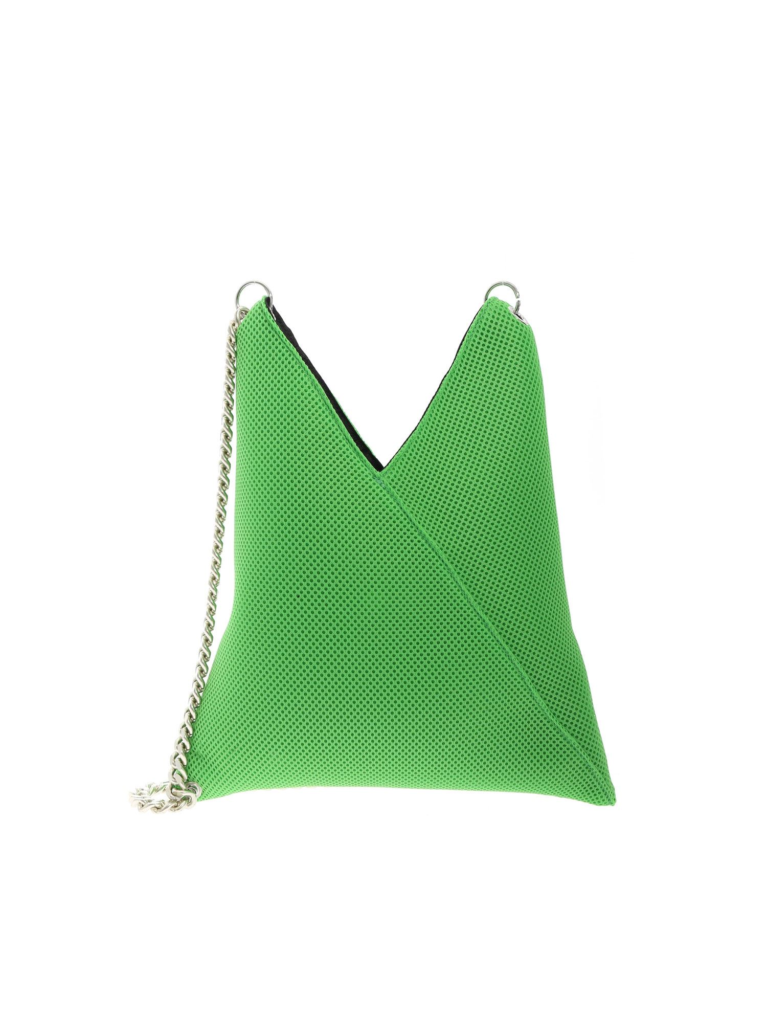 Mm6 Maison Margiela JAPANESE SHOULDER BAG IN GREEN