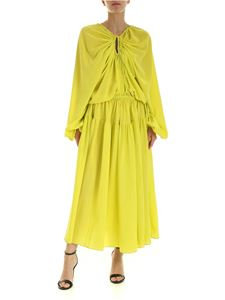 Rochas - Dress in lime green with drawstring