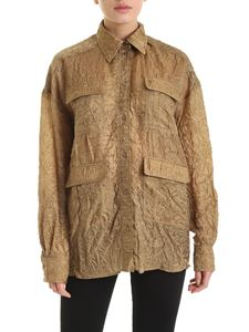 Rochas - Crumpled effect shirt in brown