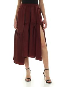 Rochas - Vent skirt in burgundy