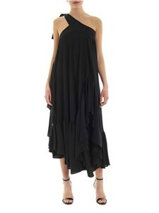 Rochas - One-shoulder dress in black silk