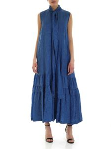 Rochas - Sleeveless dress in blue