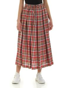 Aspesi - Checked skirt in red and brown