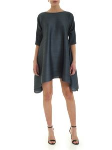 PLEATS PLEASE Issey Miyake - Squared dress in anthracite color