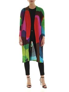 PLEATS PLEASE Issey Miyake - Energetic Colors multicolor cardigan