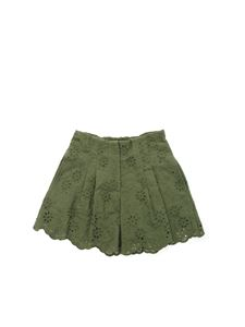 Monnalisa - Shorts in sangallo verde