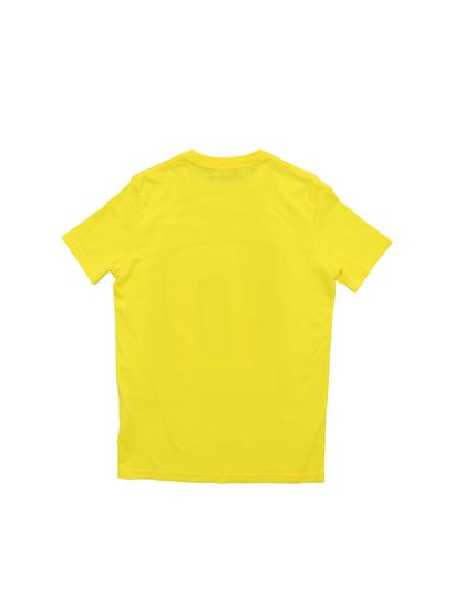 Dsquared2 - T-shirt in yellow with maxi logo print