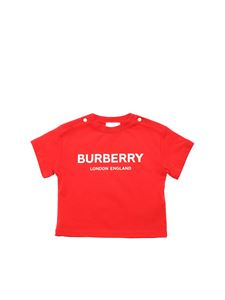 Burberry - T-shirt in red with white logo
